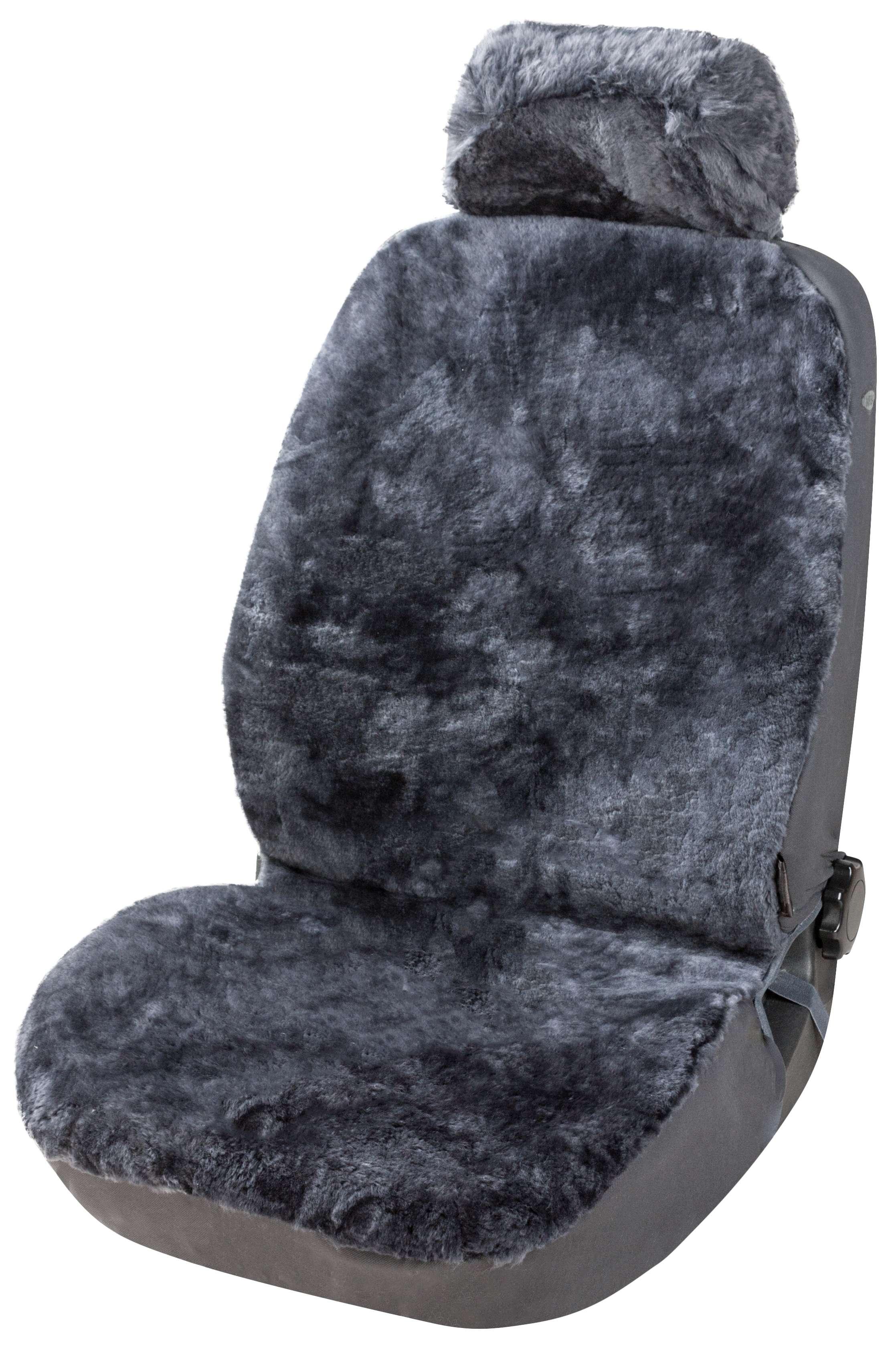Sitzbezüge Sitzbezug 100/% Lammfell Luxus  Anthrazit